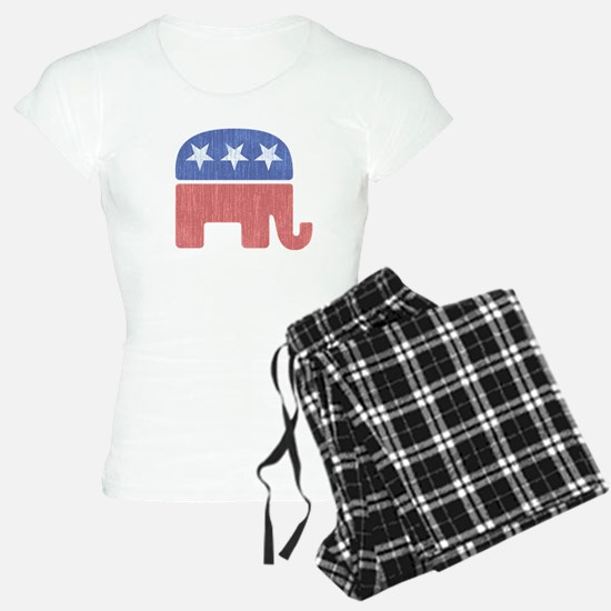 Old Republican Elephant Pajamas