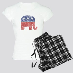 Worn Republican Elephant Women's Light Pajamas