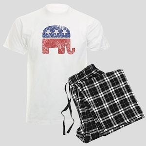 Worn Republican Elephant Men's Light Pajamas