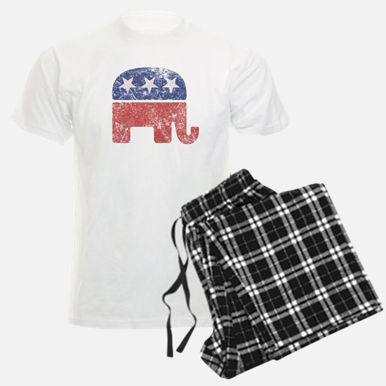 Worn Republican Elephant Pajamas