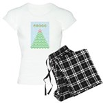 peace_xmas_tree Women's Light Pajamas