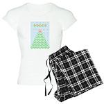 peace_xmas_tree Women's Light Pajamas