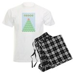 peace_xmas_tree Men's Light Pajamas