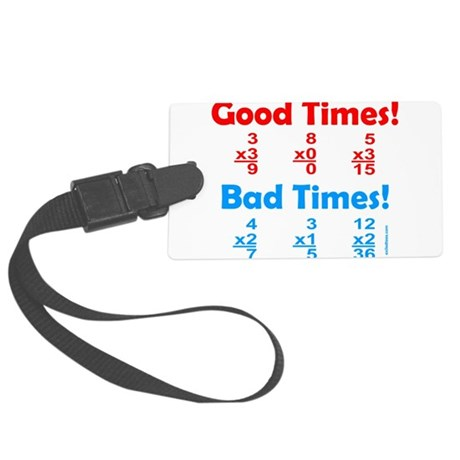 MATH/MATHEMATICS Large Luggage Tag