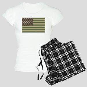 us_flag_camo Women's Light Pajamas