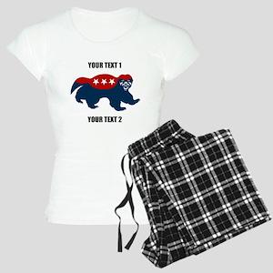 Patriotic Honey Badger Women's Light Pajamas