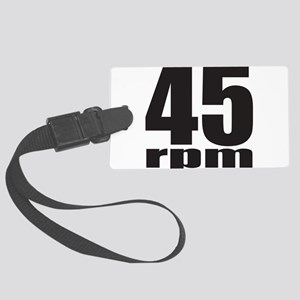 45 RPM Large Luggage Tag