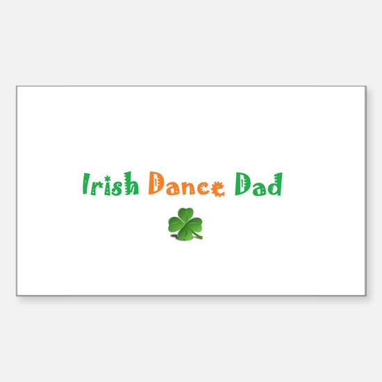 Irish Dance Dad Sticker (Rectangle)