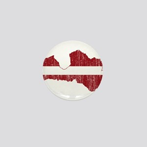 Latvia Flag And Map Mini Button