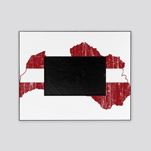 Latvia Flag And Map Picture Frame