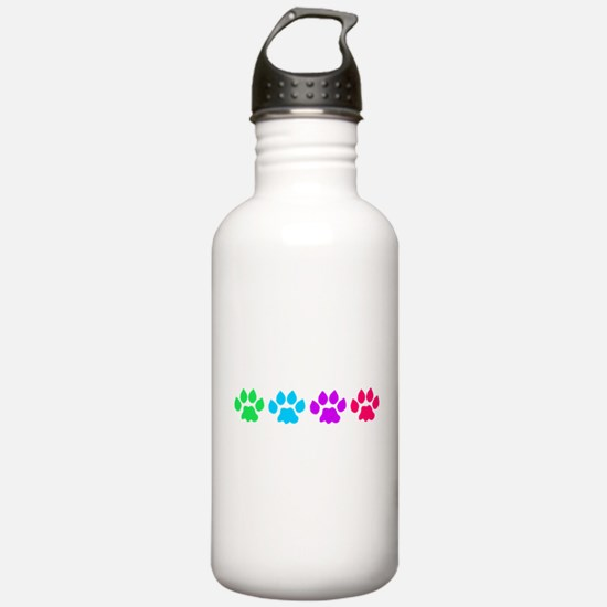 Rainbow Colored Paws Water Bottle
