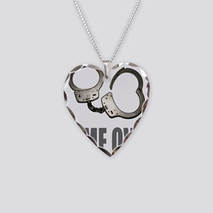HANDCUFFS/POLICE Necklace Heart Charm