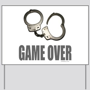 HANDCUFFS/POLICE Yard Sign