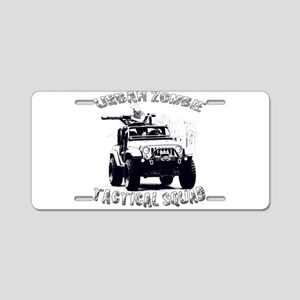 Urban Zombie Tactical Squad Aluminum License Plate