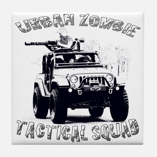 Urban Zombie Tactical Squad Tile Coaster