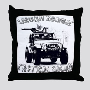 Urban Zombie Tactical Squad Throw Pillow