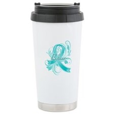Ovarian Cancer Believe Stainless Steel Travel Mug