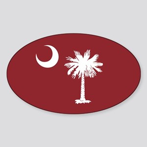 South Carolina Palmetto Moom Flag Sticker (Oval)