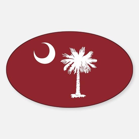 South Carolina Palmetto Moom Flag Sticker (Oval)