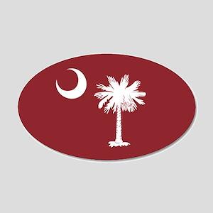 South Carolina Palmetto Moom Flag 20x12 Oval Wall