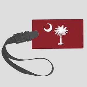 South Carolina Palmetto Moom Flag Large Luggage Ta