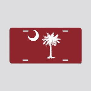 South Carolina Palmetto Moom Flag Aluminum License