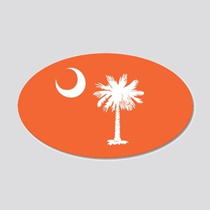 SC Palmetto Moon 20x12 Oval Wall Decal