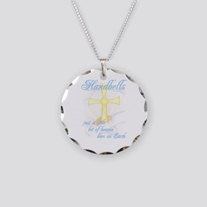 Little Bit of Heaven Necklace Circle Charm