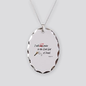 Ring Praise Necklace Oval Charm