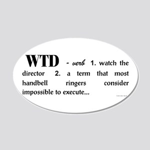 Watch The Director big 20x12 Oval Wall Decal