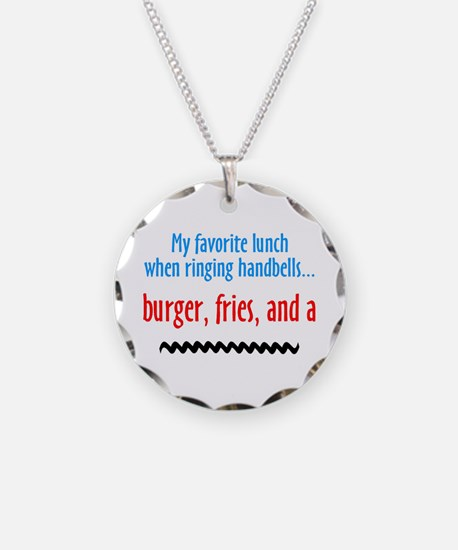 Burger, Fries and a Shake Necklace Circle Charm