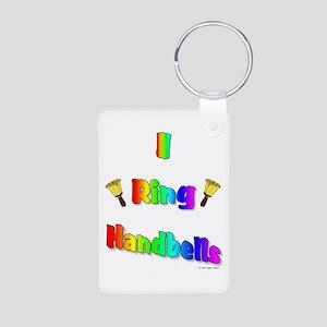 I ring handbells big Aluminum Photo Keychain