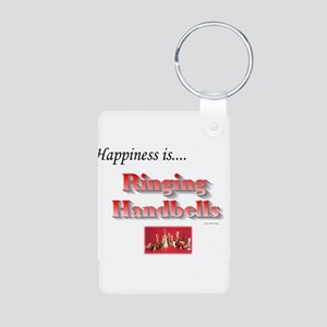 Happiness Is... Aluminum Photo Keychain