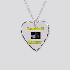 Handbell Ringer Necklace Heart Charm
