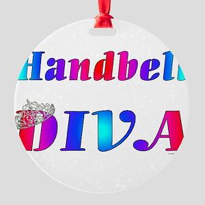 Handbell Diva Round Ornament