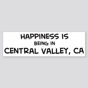 Central Valley - Happiness Bumper Sticker