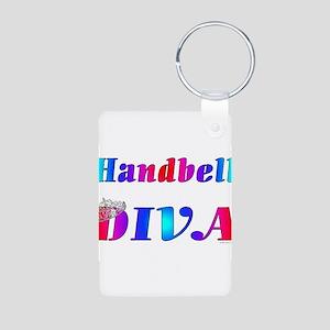 Handbell Diva Aluminum Photo Keychain