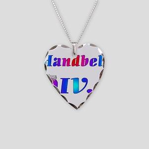 Handbell Diva Necklace Heart Charm