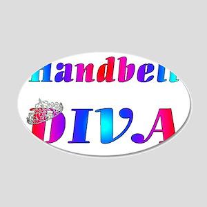 Handbell Diva 20x12 Oval Wall Decal