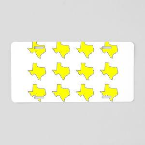yellow 4rose copyright big Aluminum License Pl