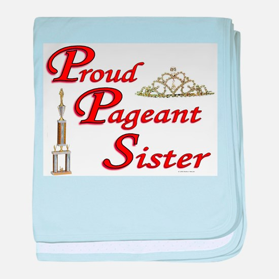 Cute Pageant baby blanket