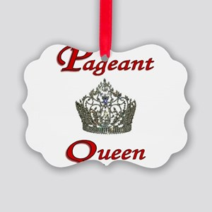 pageant queen tall white Picture Ornament