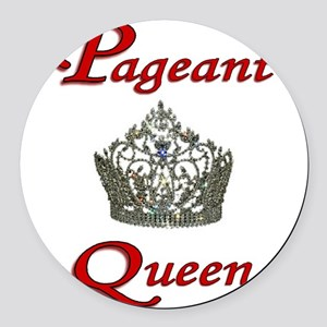 pageant queen tall white Round Car Magnet