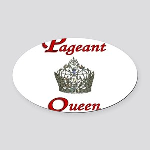 pageant queen tall white Oval Car Magnet