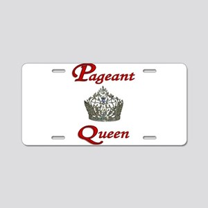 pageant queen tall white Aluminum License Plat