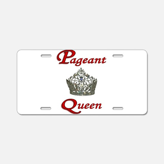 pageant queen tall white.jpg Aluminum License Plat