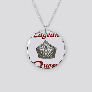 pageant queen tall white Necklace Circle Charm