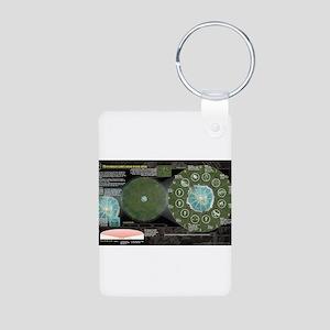 Catching Fire Arena Clock Aluminum Photo Keychain