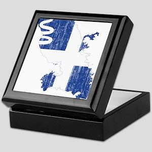 Martinique Flag And Map Keepsake Box