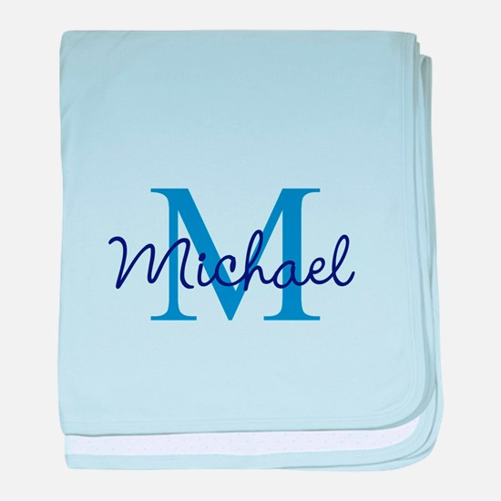 Personalize Initials and Name baby blanket